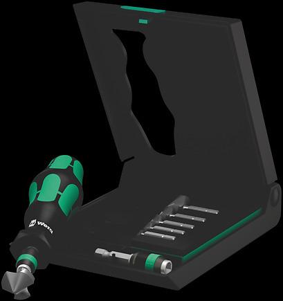 8-Piece Wera Tools 05104650001 Wera 846//8 Kraftform Countersink Bit and Bit Set