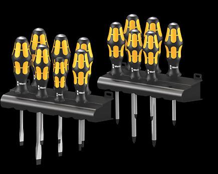 Chiseldriver and Rack Wera 05133285001 Big Pack 900 Screwdriver Set Kraftform 15 Pieces