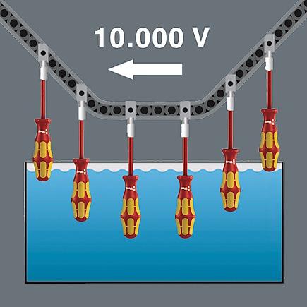 поштучный контроль в условиях водяной бани при 10000 B