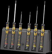 1578 A/6 ESD Screwdriver set and rack for electronic applications