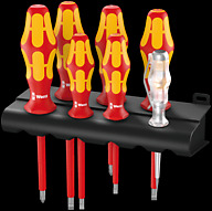 160 i/7 Rack screwdriver set Kraftform Plus Series 100, voltage tester and rack