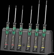 2035/6 A Screwdriver set and rack for electronic applications