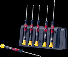 2035/6 A Rack RBR Juego de destornilladores para usos electrónicos + Bandeja