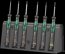 2050/6 Screwdriver set and rack for electronic applications