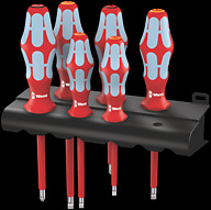 3165 i/6 Screwdriver set, stainless and rack