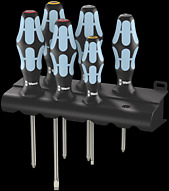 3334/3350/3355/6 Screwdriver set, stainless and rack