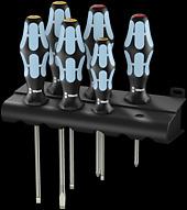 3334/6 Serie di giravite in acciaio inox + supporto
