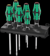 334/6 Rack screwdriver set Kraftform Plus Lasertip and rack
