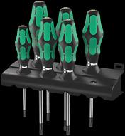 367/6 TORX® HF Assortimento di giravite Kraftform Plus con ritegno vite + supporto