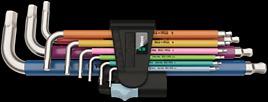 3950 SPKL/9 SM Multicolour Assortimento di chiavi a L, metriche, in acciaio inox