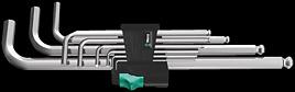 950/9 Hex-Plus 1 Winkelschlüsselsatz, metrisch, gestellverchromt