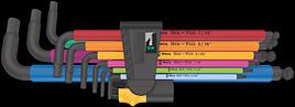 950/9 Hex-Plus Multicolour Imperial 2 Winkelschlüsselsatz, zöllig, BlackLaser