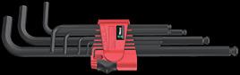 950 PKL/9 BM N Winkelschlüsselsatz, metrisch, BlackLaser