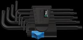 967 L/9 TORX® HF Winkelschlüsselsatz mit Haltefunktion, BlackLaser