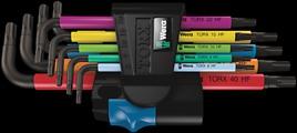 967 SL/9 TORX® HF Multicolour Winkelschlüsselsatz mit Haltefunktion