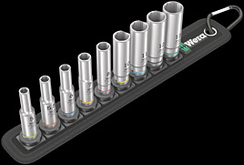 Belt A Deep 1 socket set, 1/4