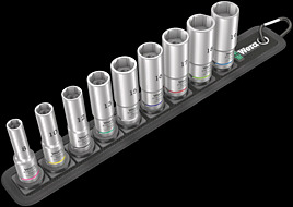 Belt B Deep 1 socket set, 3/8