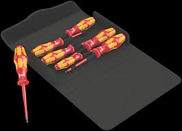 Kraftform 100 iS/7 Set 1 Schraubendrehersatz Kraftform Plus Serie 100. Teilweise mit reduziertem Klingendurchmesser