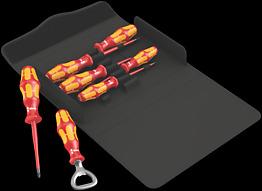 Kraftform 100 iS/7 Set 2 Schraubendrehersatz Kraftform Plus Serie 100. Teilweise mit reduziertem Klingendurchmesser