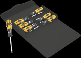 Kraftform 900/7 Set 1 Assortimento di giravite Kraftform Wera: il giravite-scalpello
